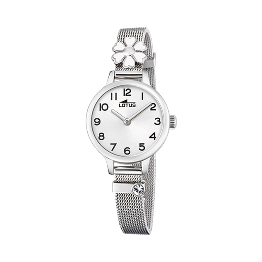 Reloj Lotus flor con brazalete de malla de acero