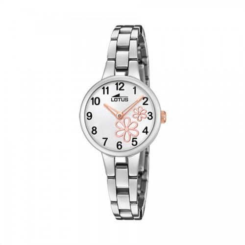 Reloj Lotus Flores Brazalete Acero