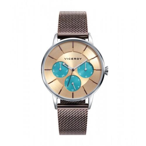 Reloj para chica Viceroy marrón con brazalete de malla de acero