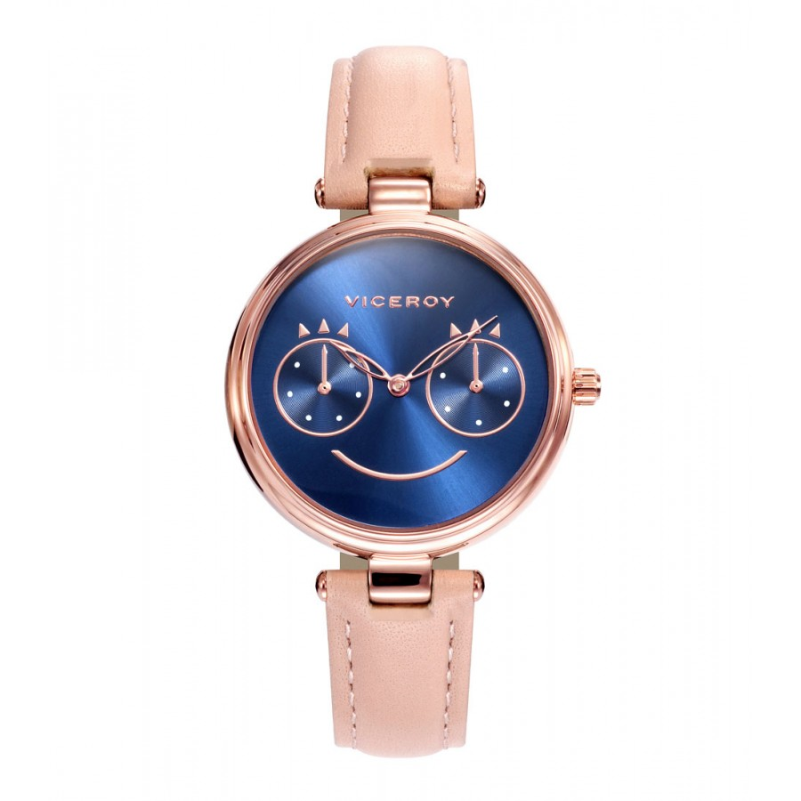 Reloj Viceroy Chica Azul con Correa Rosa