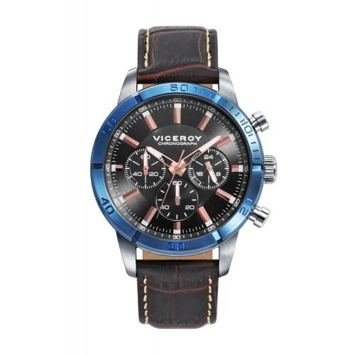 Reloj Viceroy Deportivo Azul Correa Marrón
