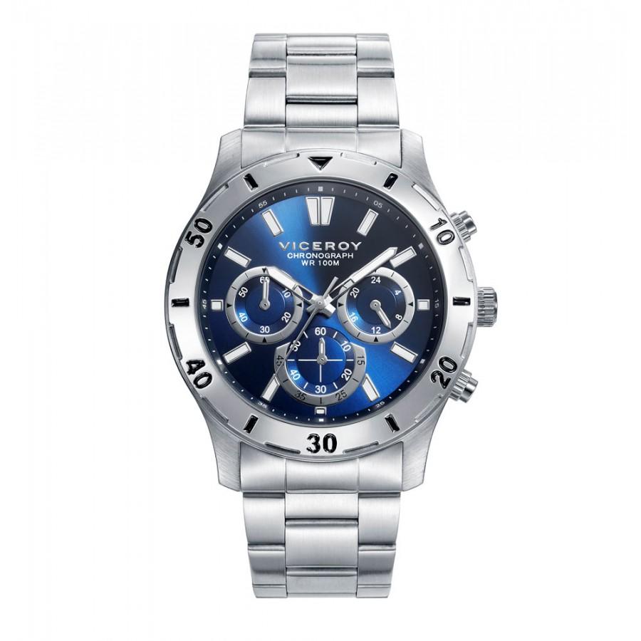 Reloj Viceroy azul deportivo con brazalete de acero