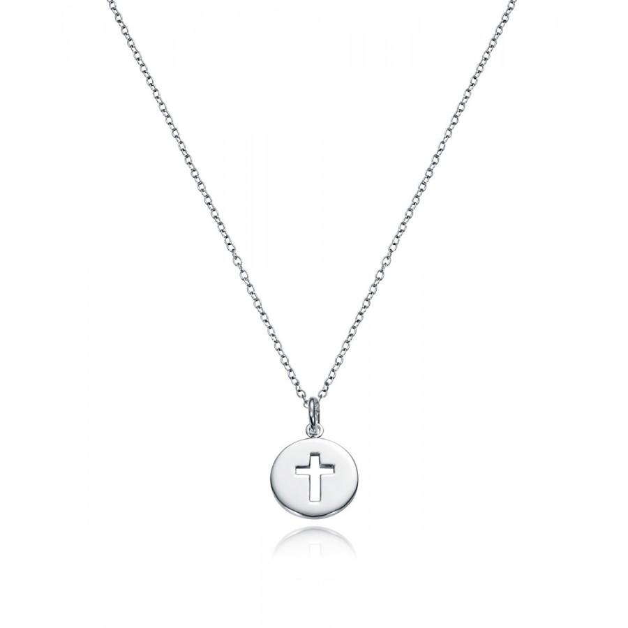 Medalla Viceroy de plata con cruz para niña de Comunión