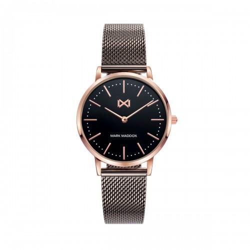 Reloj para chica Mark Maddox dorado con brazalete de malla marrón