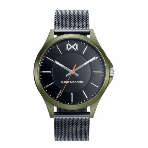 Reloj Chico Mark Maddox Verde y Negro Brazalete Malla