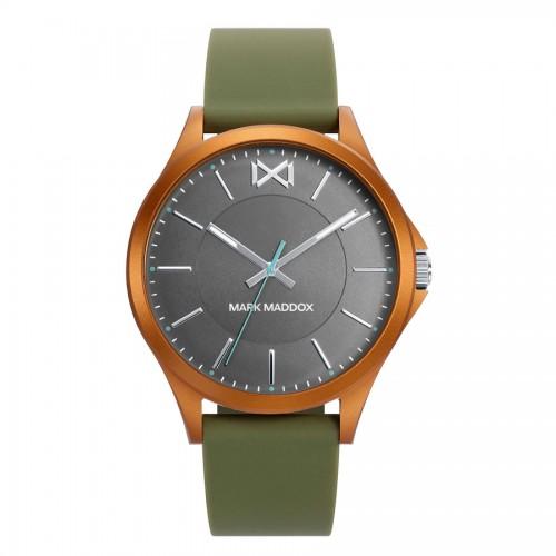 Reloj Chico Mark Maddox Marrón Correa Goma Verde