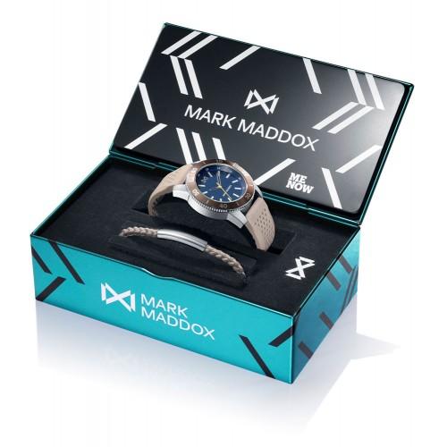 Reloj para chico Mark Maddox azul con correa de goma marrón