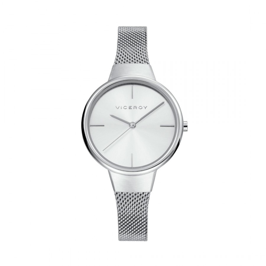 Reloj para chica Viceroy plateado con brazalete de malla de acero