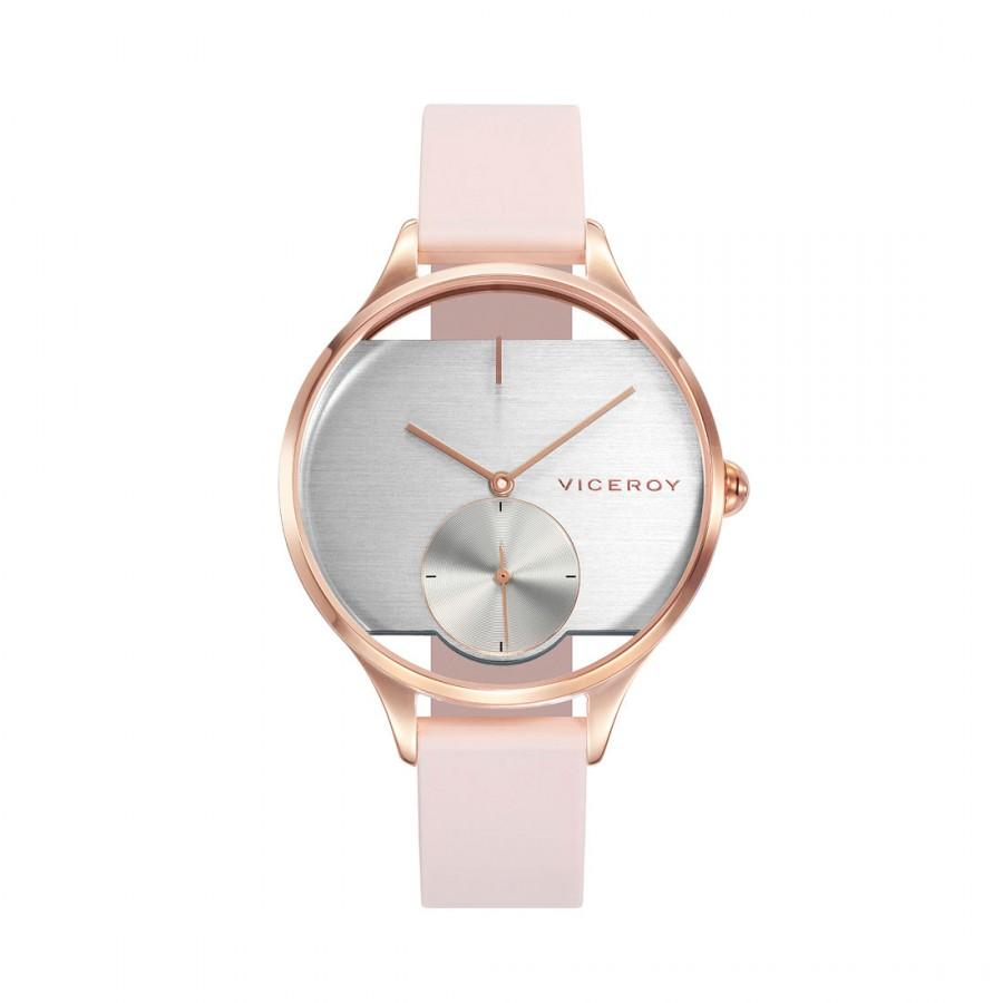 Reloj Viceroy Chica Transparente con Correa Rosa