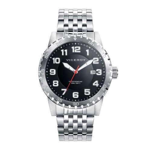 Reloj Viceroy Negro Sumergible Brazalete Acero