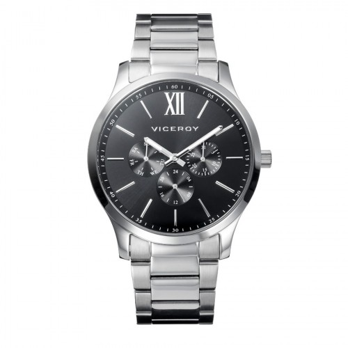 Reloj Viceroy Negro Elegante Brazalete Acero