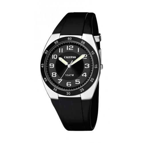 Reloj Calypso Chico Correa Goma Negra