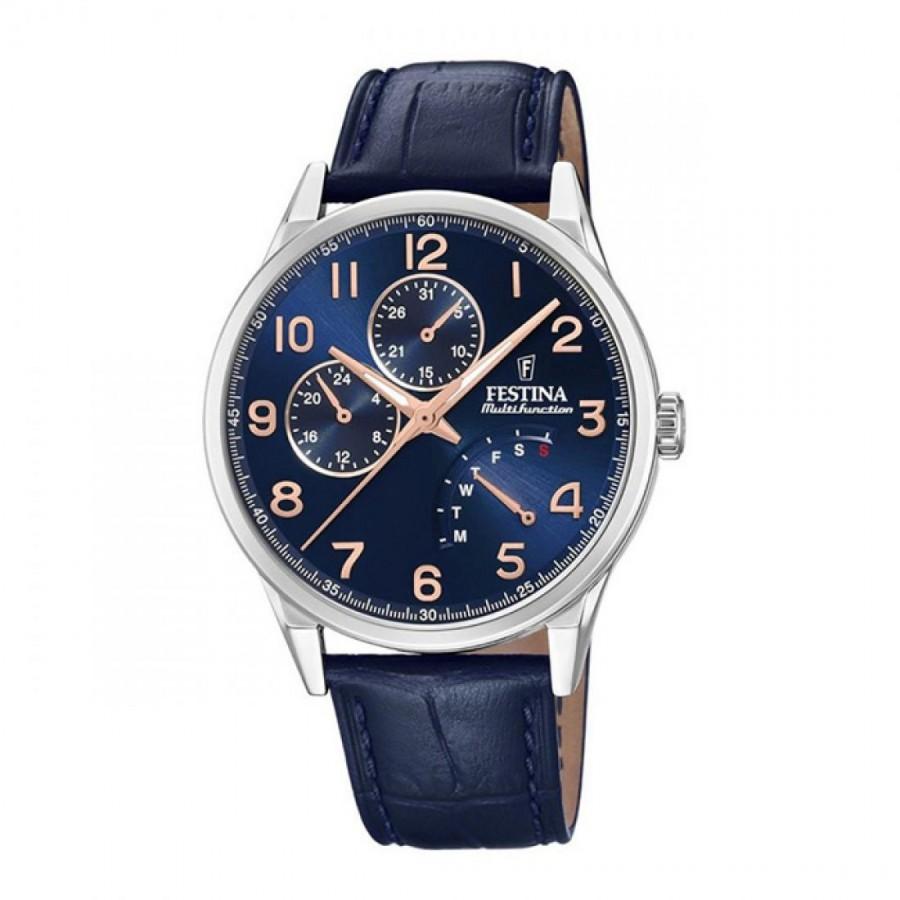 Reloj Festina Acero Elegante Correa Azul