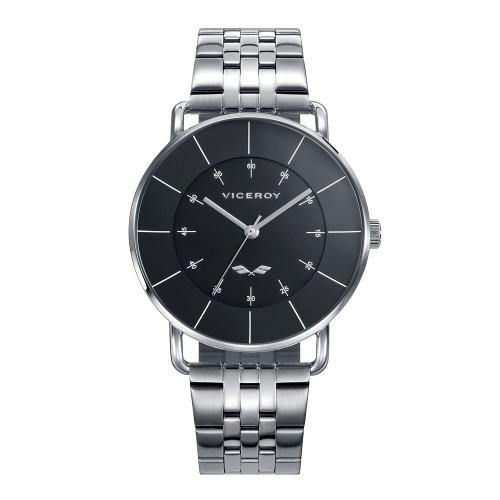 Reloj Viceroy negro con brazalete de acero