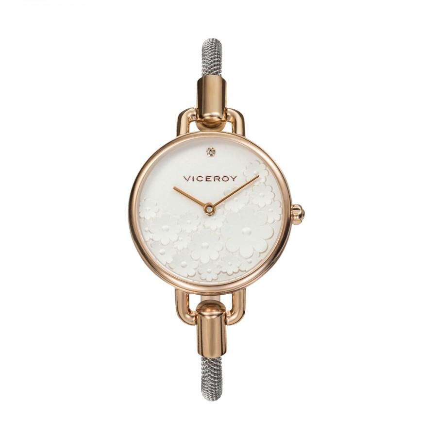 Reloj para chica Viceroy dorado con brazalete de malla de acero