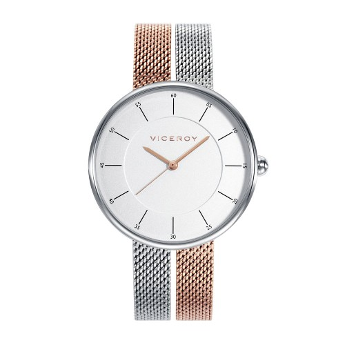 Reloj para chica Viceroy bicolor con brazalete de malla de acero