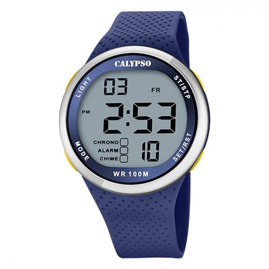 Reloj Calypso Chico Digital Correa Goma Azul