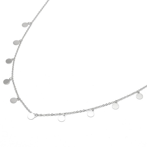 Gargantilla Plata Colgantes Círculos