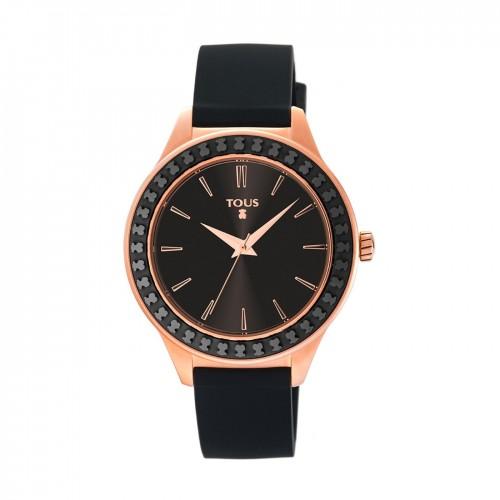 Reloj Tous Straight Ceramic Dorado Correa Negra