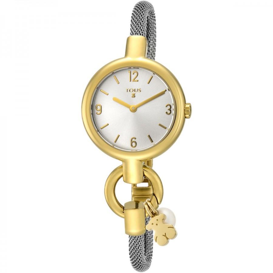 Reloj Tous Hold Charms Dorado Brazalete Acero