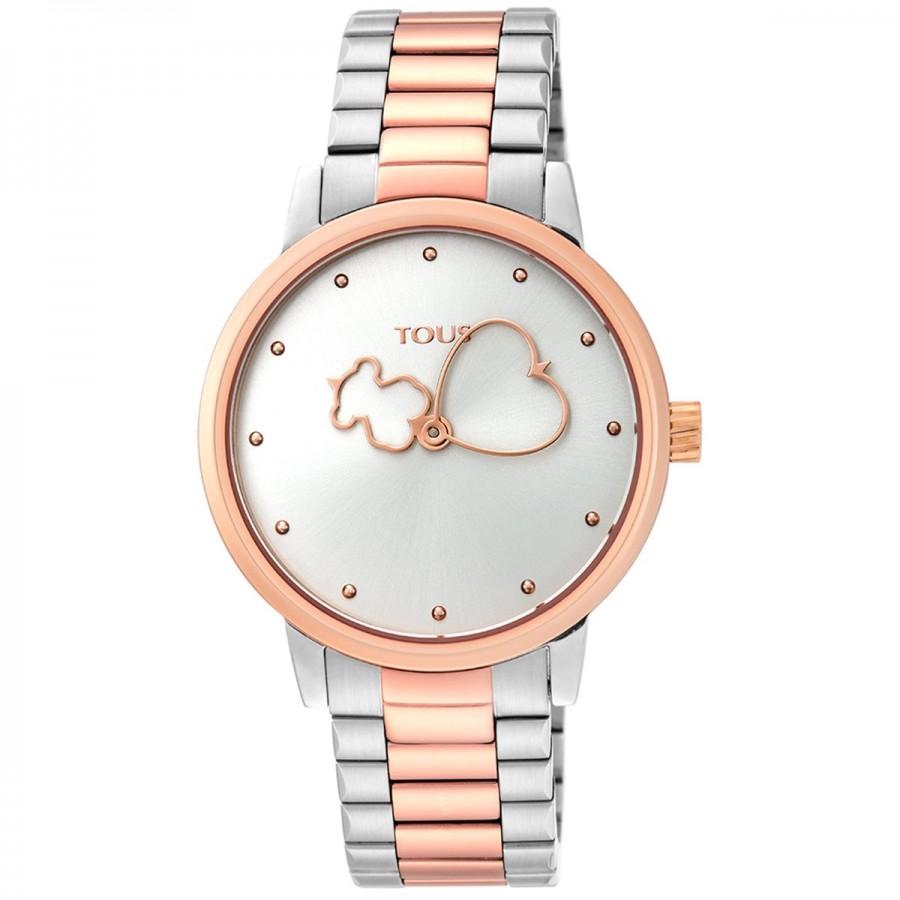 Reloj Tous Bear Time Bicolor Brazalete Acero y Dorado