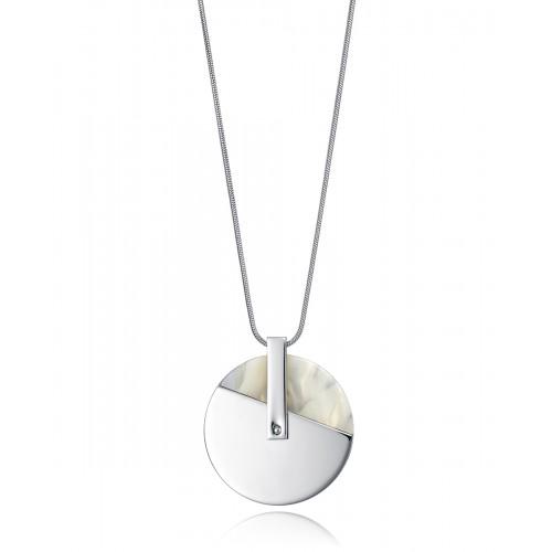 Colgante Acero Viceroy Disco Blanco