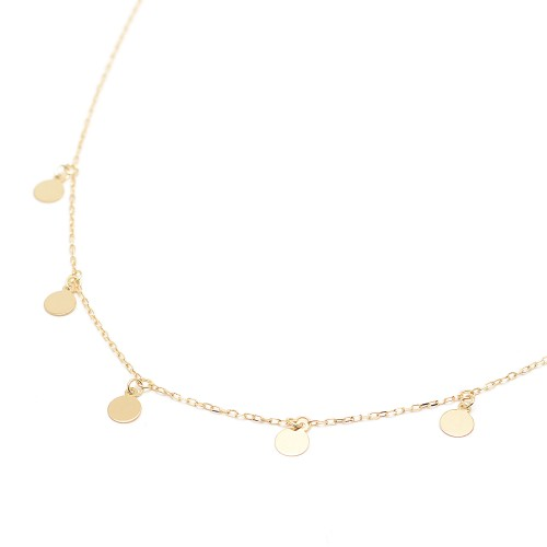 Gargantilla de oro con colgantes de círculos