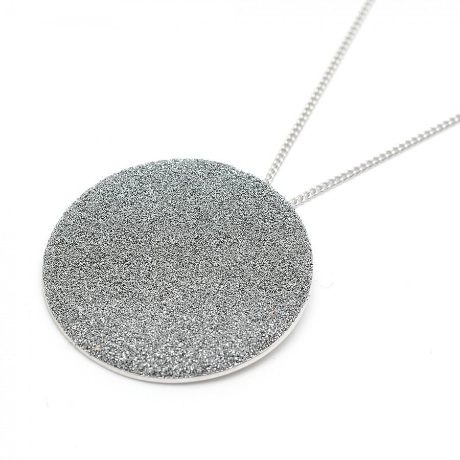 Colgante Rebecca Plata Polvo de Diamante