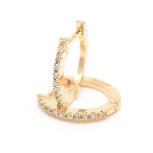 Pendientes Oro Chica LeCarré Aro Diamantes