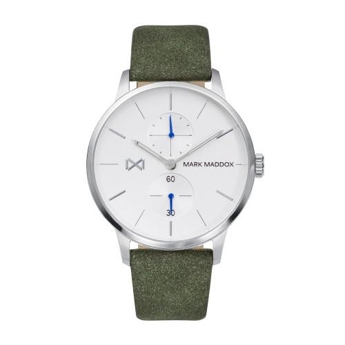 Reloj para chico Mark Maddox acero con correa verde