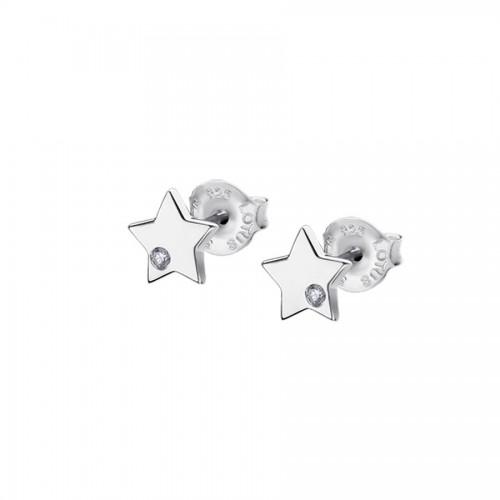 Pendientes Plata Lotus Estrella Circonitas