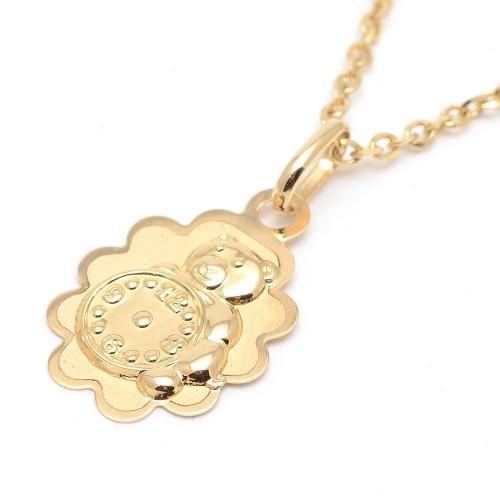 Medalla Oro Bebé Osito con Reloj