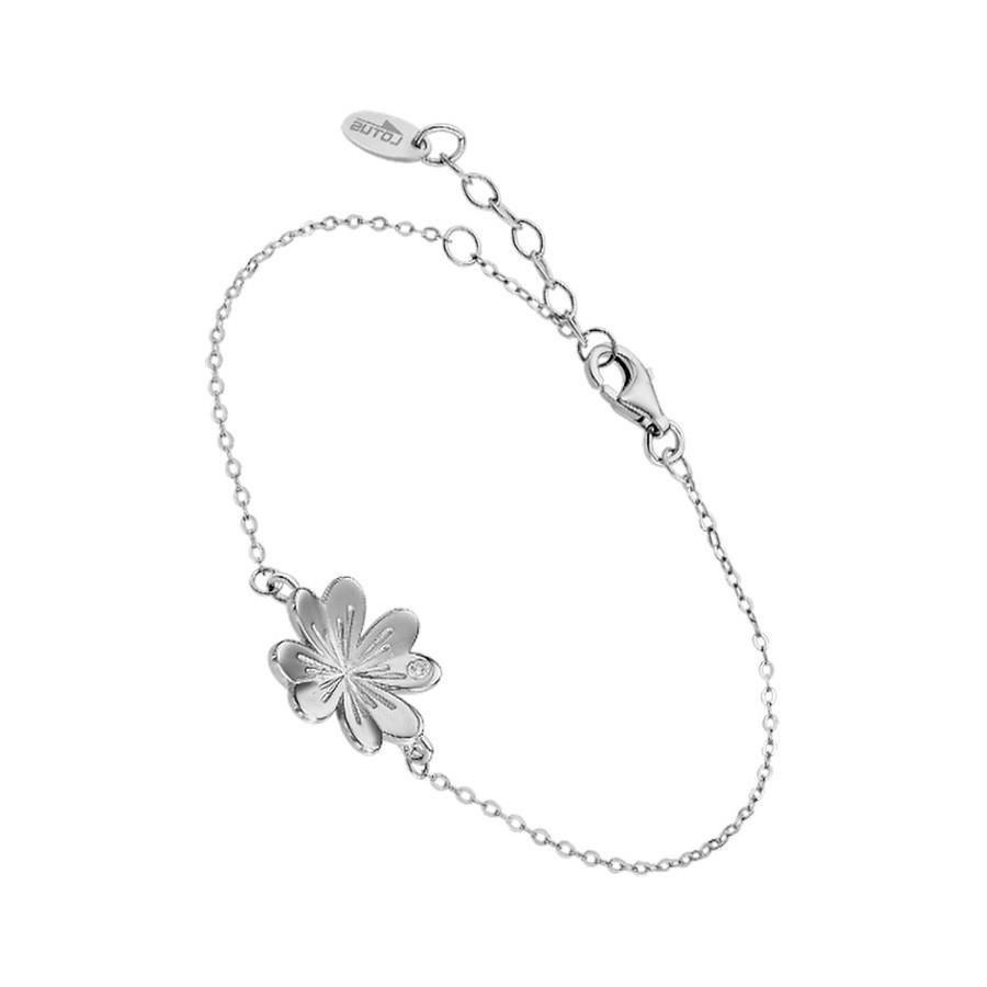 Pulsera Lotus Plata Flor