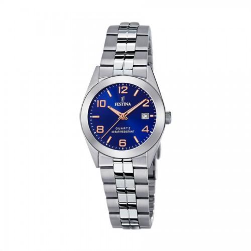 Reloj para chica o niño de Comunión azul con brazalete de acero