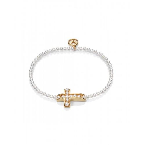 Pulsera Viceroy de perlas con cruz dorada