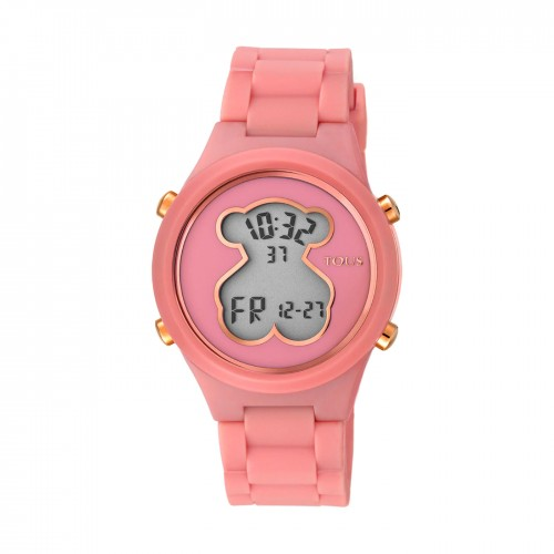 Reloj Tous D-Bear Teen Digital Goma Coral