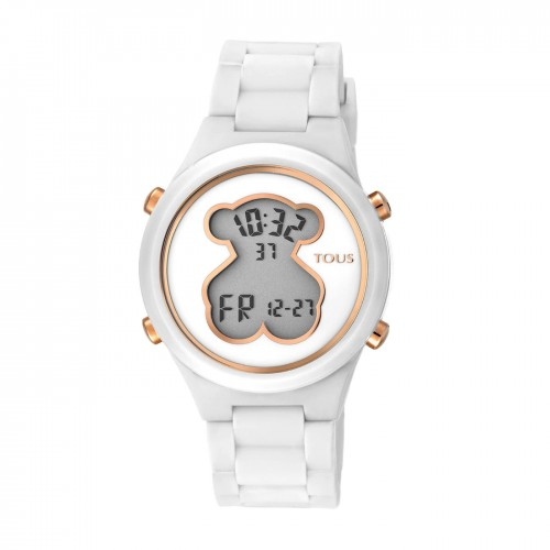 Reloj Tous D-Bear Teen Digital Goma Blanco
