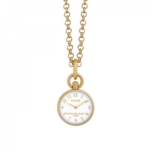 Reloj Tous Colgante Dorado Cadena
