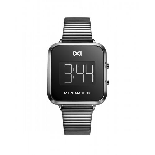 Reloj Mark Maddox Digital Gris Brazalete Acero