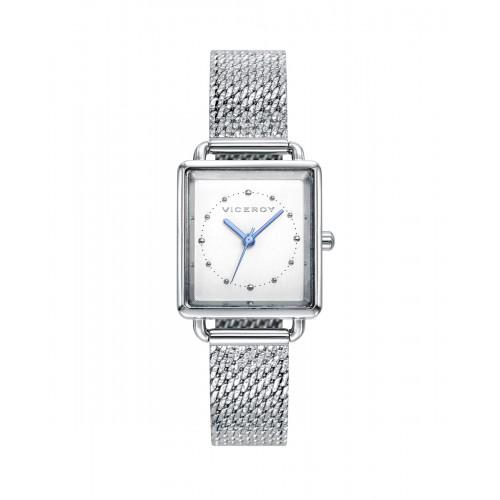 Reloj Viceroy Cuadrado Brazalete Malla Acero