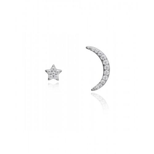 Pendientes Plata Viceroy Luna y Estrella