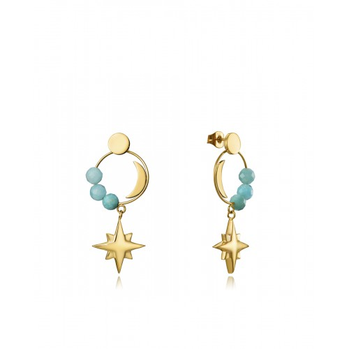 Pendientes Viceroy Dorados Estrella y Luna