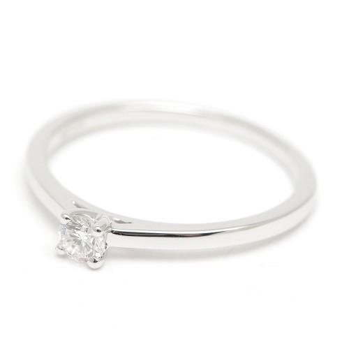 Sortija Oro Blanco y Diamante