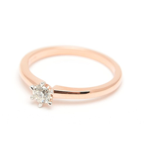 Sortija Oro Rosa y Diamante