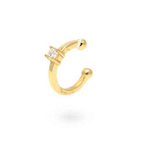 Pendiente Oro Chica LeCarré Ear Cuff Diamante