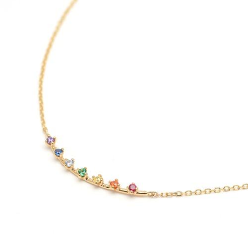 Gargantilla Oro LeCarré Rainbow Topacios Colores