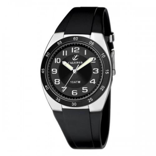 Reloj Calypso Goma Negra