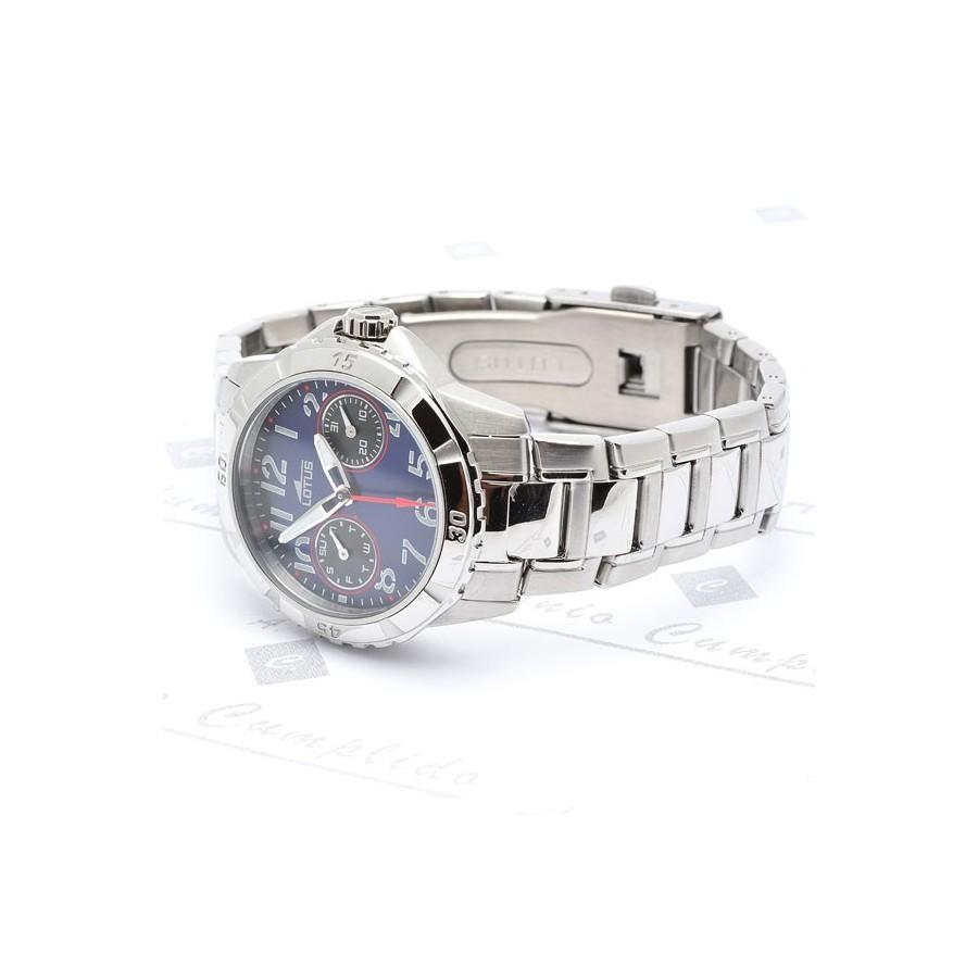 Azul Reloj Acero Brazalete Lotus Reloj vgIYbf7y6m