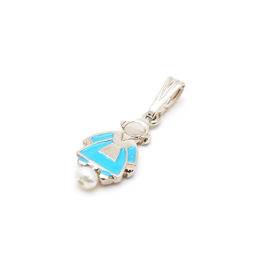 Colgante Fallera Azul Perla