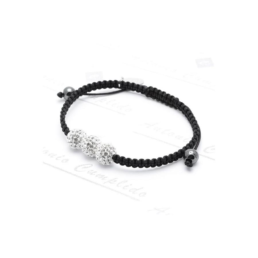 ce4f179a97ea Pulsera LOTUS Chica Plata Swarovsky Cordón Negro LP1157-2 3